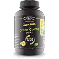 Sinew Nutrition Weight Management Combo 750Mg (Garcinia Cambogia And Green Coffee Bean Extract) 60 Count,100% Pure & Natural