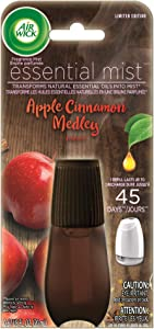 Air Wick Essential Mist, Essential Oil Diffuser Refill,Apple Cinnamon Medley, Holiday scent, Holiday spray, Air Freshener