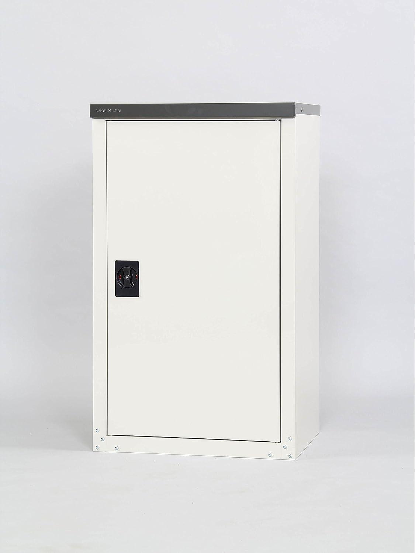 【物置倉庫】【物置 収納】耐荷重15kg サビに強い紛体塗装で丈夫で長持ち 丈の長い物もラクラク収納できる 半分棚の 家庭用 収納庫 102 B06XCXTS4D 14976