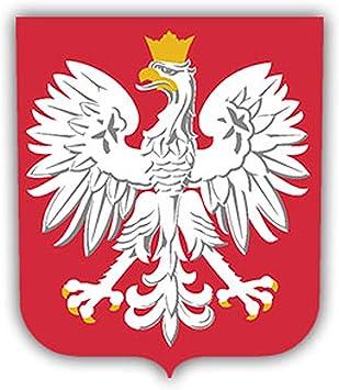 Aufkleber Sticker Wappen Polen Adler Polska Godlo Rzeczypospolitej 7x6cm A1119 Auto