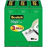 3M Scotch cinta mágica de 1.27 cm x 32.91 m, 3 rollos