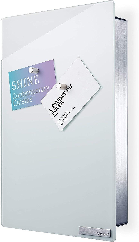 Blomus Key Box Glass Magnet Board Metal White H 30 Cm B 20 Cm L 5 Cm Amazon Co Uk Kitchen Home