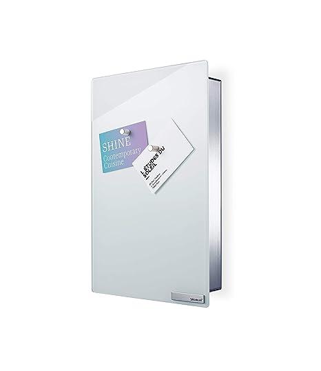 BLOMUS Edelstahl Magnettafel VELIO  Schlüsselkasten   grau 65372