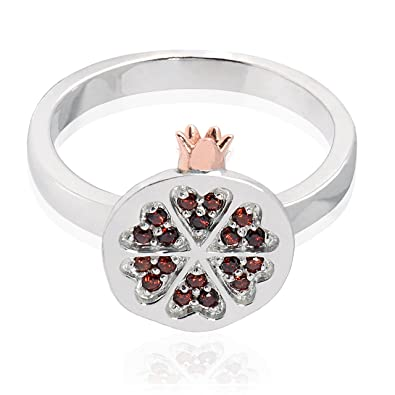 Clogau - Women Round Garnet Ring Ti1v0Am
