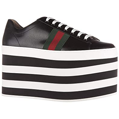 e20cb7886e5 Gucci Women s Shoes Leather Trainers Sneakers Quentin Plateau Black UK Size  4 452312 D3VN0 1060