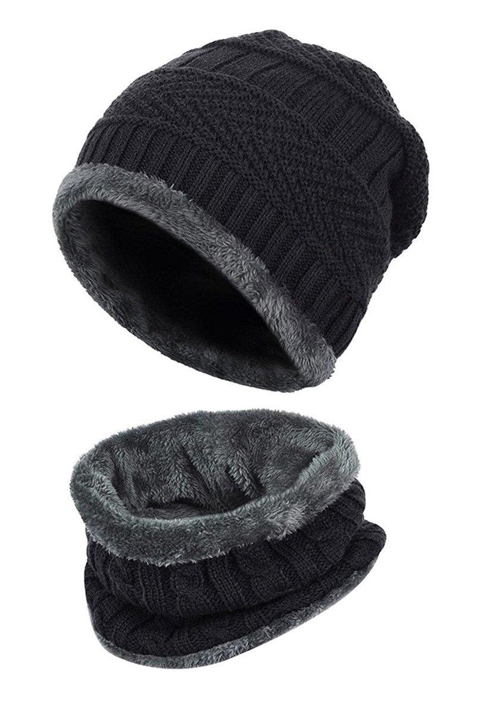 Kfnire cappello e sciarpa per bambini inverno set cappello caldo ... e68f9ad3404f