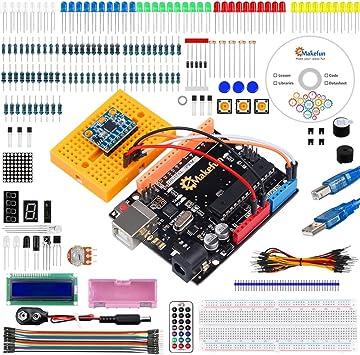 Emakefun MPU-6050, UNO R3 Project Starter Kit w/Tutorial, UNO R3 Controller Board, SG90 Micro Servo, MPU-6050 Accelerometer Module for Arduino UNO Project: Amazon.es: Electrónica