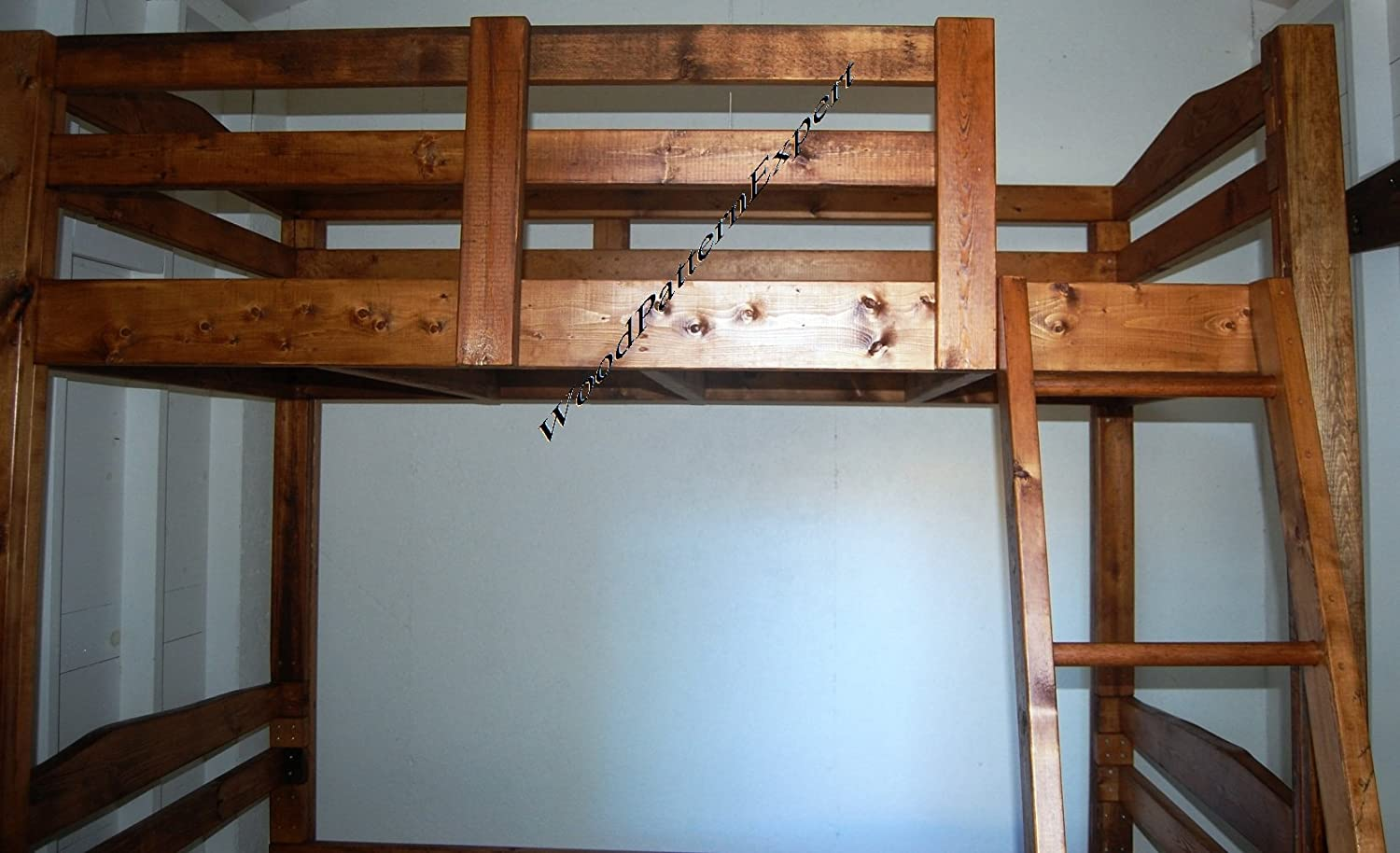 amazoncom bunk bed paper plans so easy beginners look like experts build your own king over queen over full over twin using this step by step diy patterns