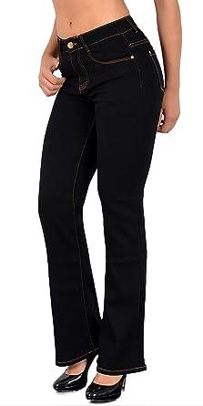 by-tex Damen Jeans Bootcut Jeanshose Boot-Cut Hose bis Übergröße 46, 48