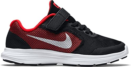 Nike Revolution 3 Wide (PSV), Zapatillas de Running para Niños, Rojo (University Red/Metallic Silver-Black), 29 1/2 EU: Amazon.es: Zapatos y complementos