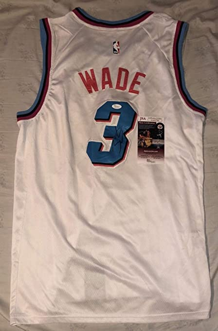 02cbbecb513b Image Unavailable. Image not available for. Color  Dwyane Wade Autographed  Signed Miami Heat Vice Jersey ...