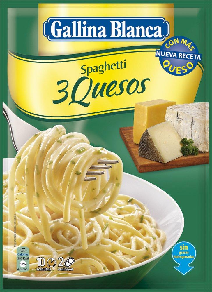 Gallina Blanca - Spaghetti 3 Quesos, 175 g: Amazon.es: Alimentación y bebidas