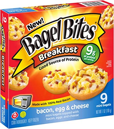 Bagel Bites Bacon Egg And Cheese Breakfast Bites 9 Count Frozen