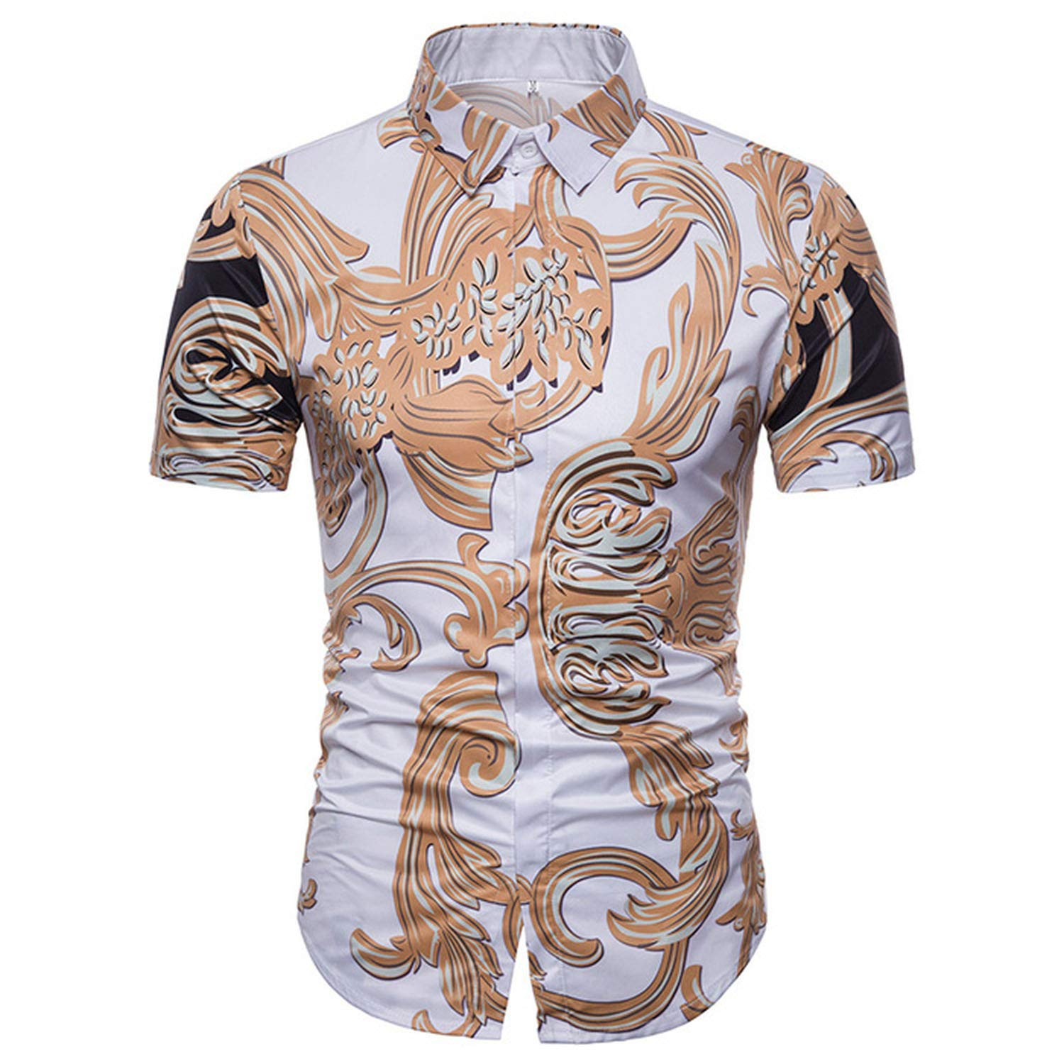 soft lover 2019 Luxury Brand Slim Fit Short Sleeve Homme Summer Casual Party Business Shirts Male