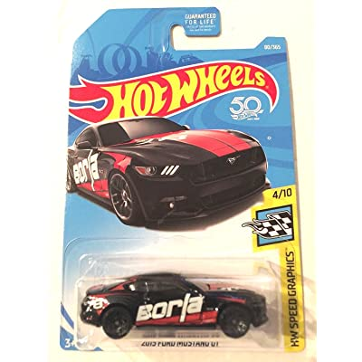 Hot Wheels 2020 50th Anniversary 2015 Ford Mustang GT 80/365, Black: Toys & Games