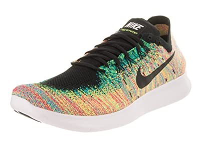 6e756c8a58e64 Image Unavailable. Image not available for. Color  Nike Men s Free RN  Flyknit 2017 Black White Running Shoes