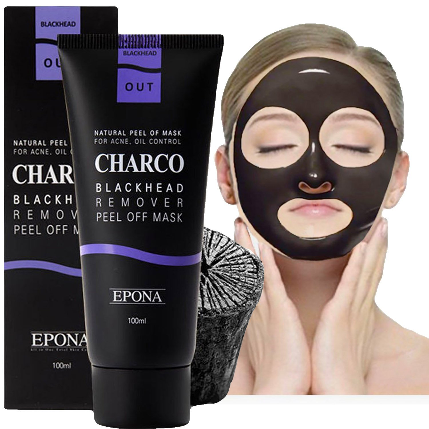 [EPONA] Korean Cosmetics Blackhead Remover Peel Off Natural Charcoal Deep Pore Mask for Acne(100g / 3.53oz)| Oil Control