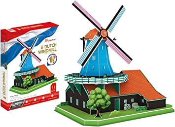 Cubic Fun - Molino de Viento de Holanda, Dutch Windmill - MC219H