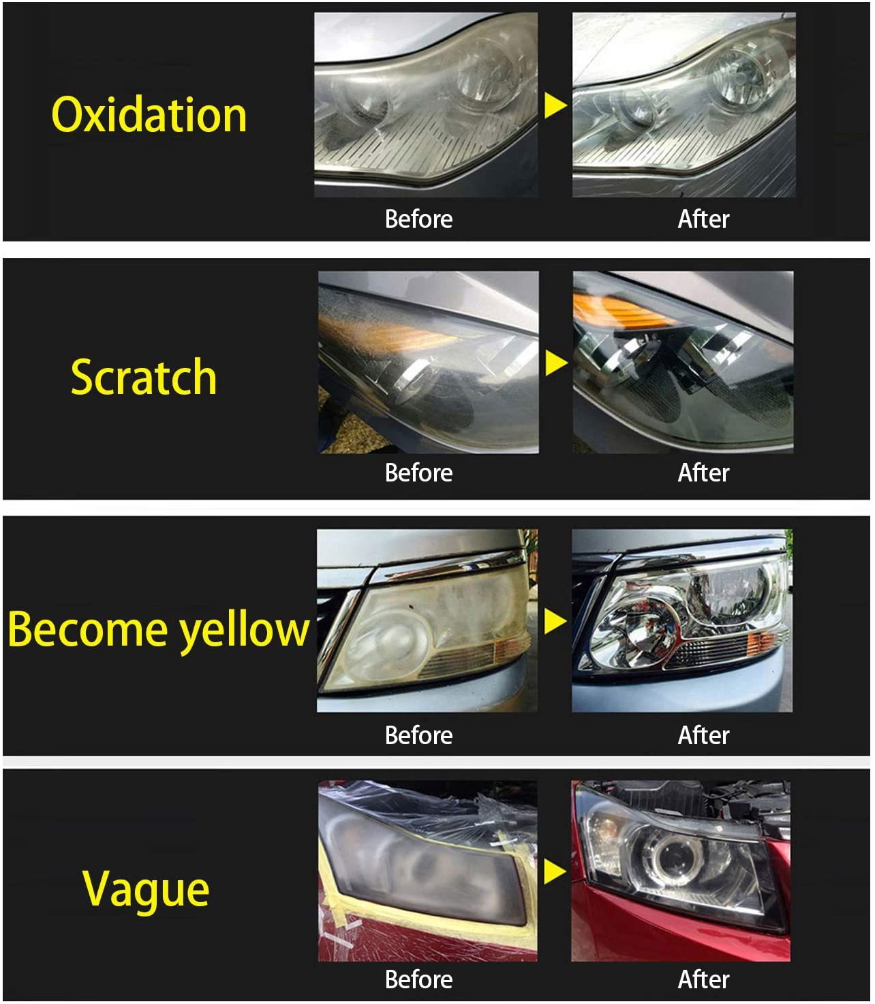 KKmoon Automobile Headlight Restoration Kits Car Glass Scratch Repair Headlight Renovation Set Headlight Lens Polish Repair Tool