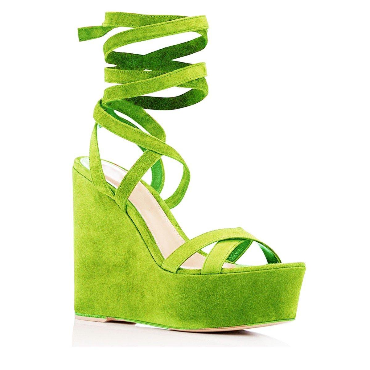 11sunshop - Zapatos de vestir para mujer 33|Verde