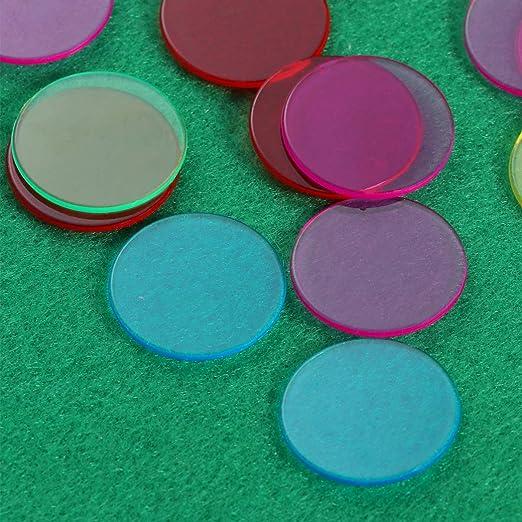 NUOBESTY fichas de Bingo Juego de 300 fichas de conteo de Colores ...