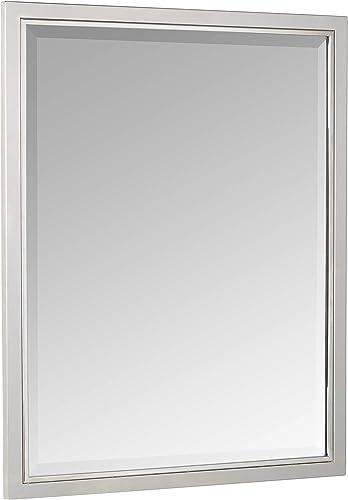 Head West 24 x 30 Classic Brush Nickel Chrome Mirror, 24×30