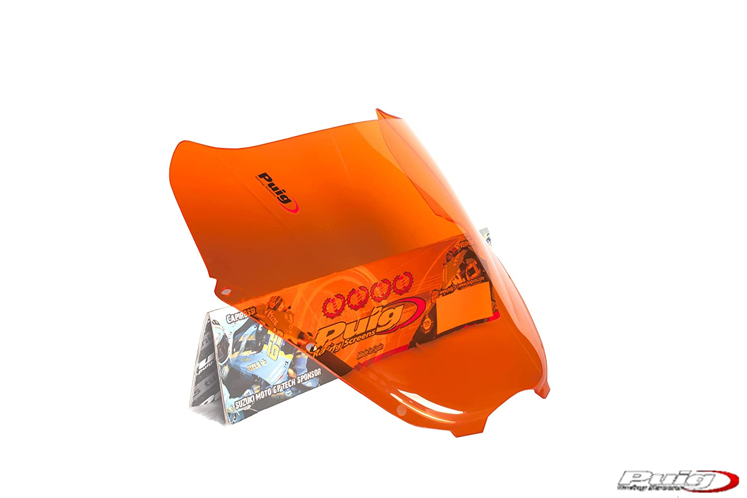 Puig 4184T Racing Screen for Hyosung GT125R 06'-13', GT250 iR 06'-17', GT650 R 05'-17', Orange GT250 iR 06'-17' GT650 R 05'-17' Motoplastic S.A.