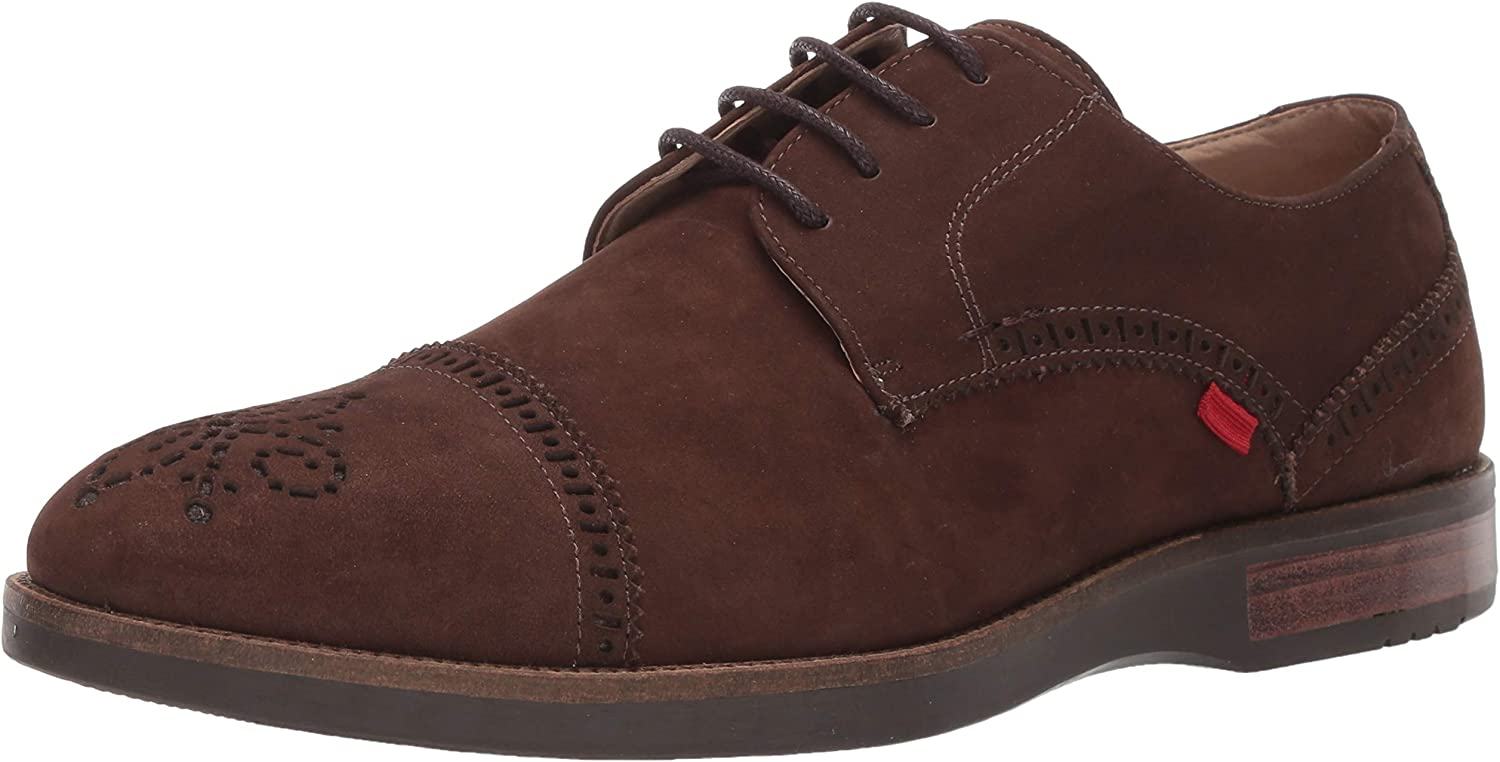 Marc Joseph New York Mens Genuine Leather Fulton Street Oxford brown nubuck 13 M US
