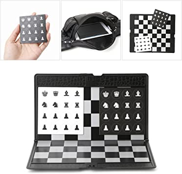 Cicitop Pocket Folding Travel Magnetic International Chess Set, Ideal Gift for Father and Kids and Entertainment Chess Set for Travel.