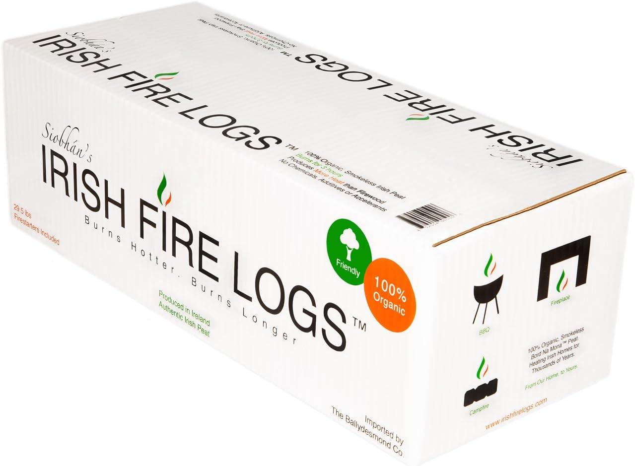 Siobhans Irish Fire Logs Irish Peat with Fire Starters