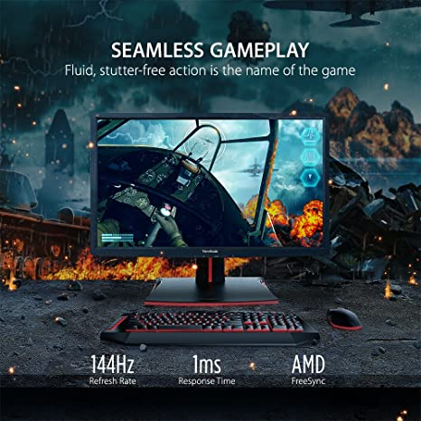 ViewSonic XG2701 27 Inch 144Hz 1ms 1080p FreeSync Gaming Monitor with HDMI  and DisplayPort (2017 Model)