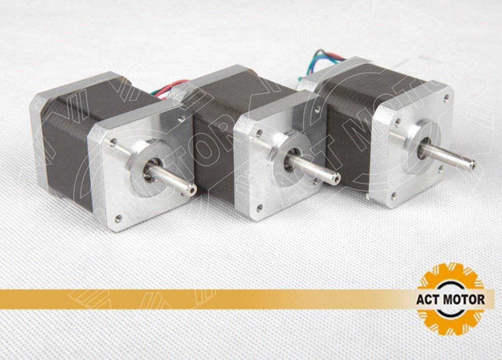 ACT Motor GmbH Nema17 17HS3404 Motor paso a paso, 3 piezas, 0,4 A ...
