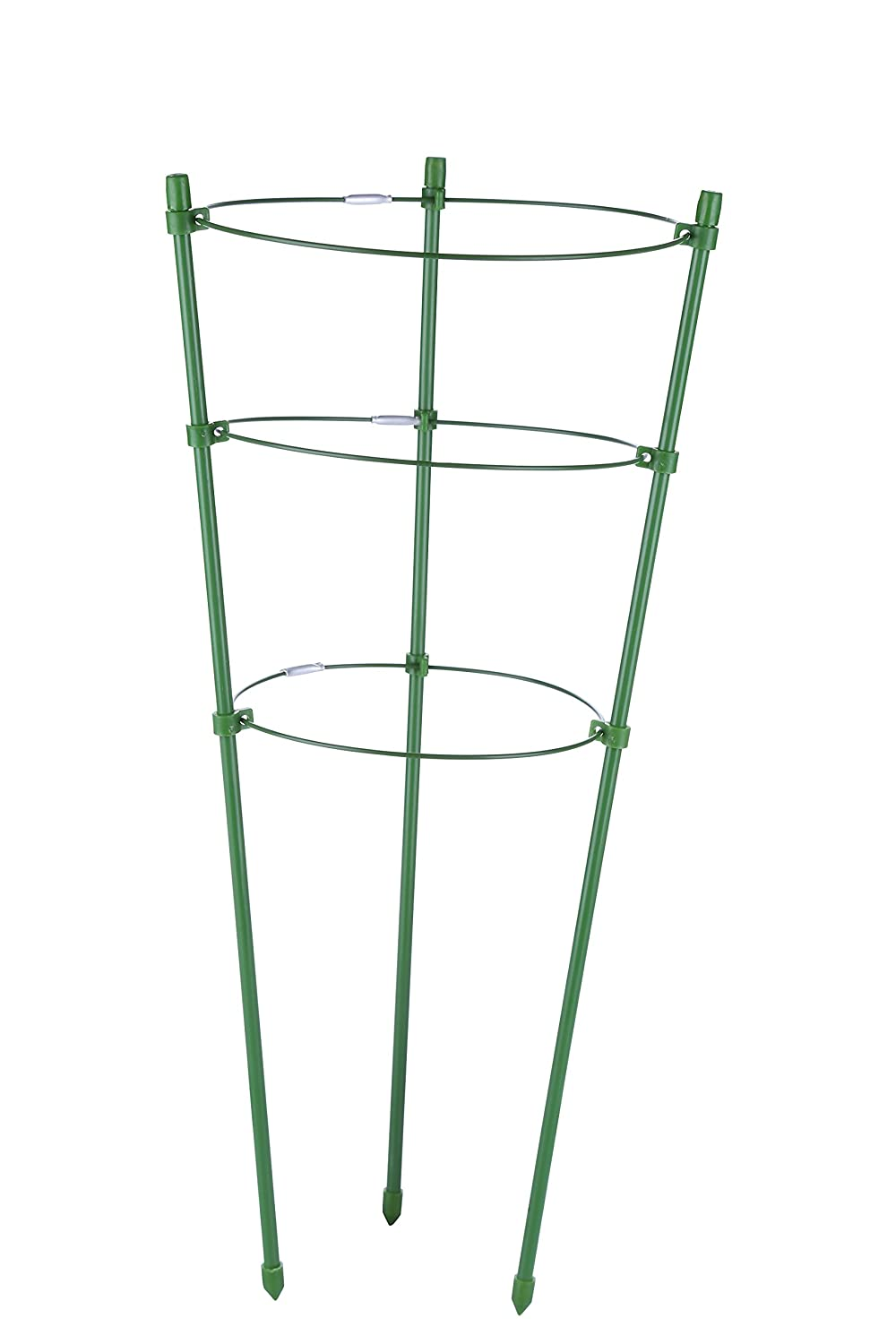 "I-MART Tomato and Plant Support Cage, Stakes, Trellis, Gardening Climbing Growing Cages with Adjustable Rings (17.7"" H, 3 Rings)"