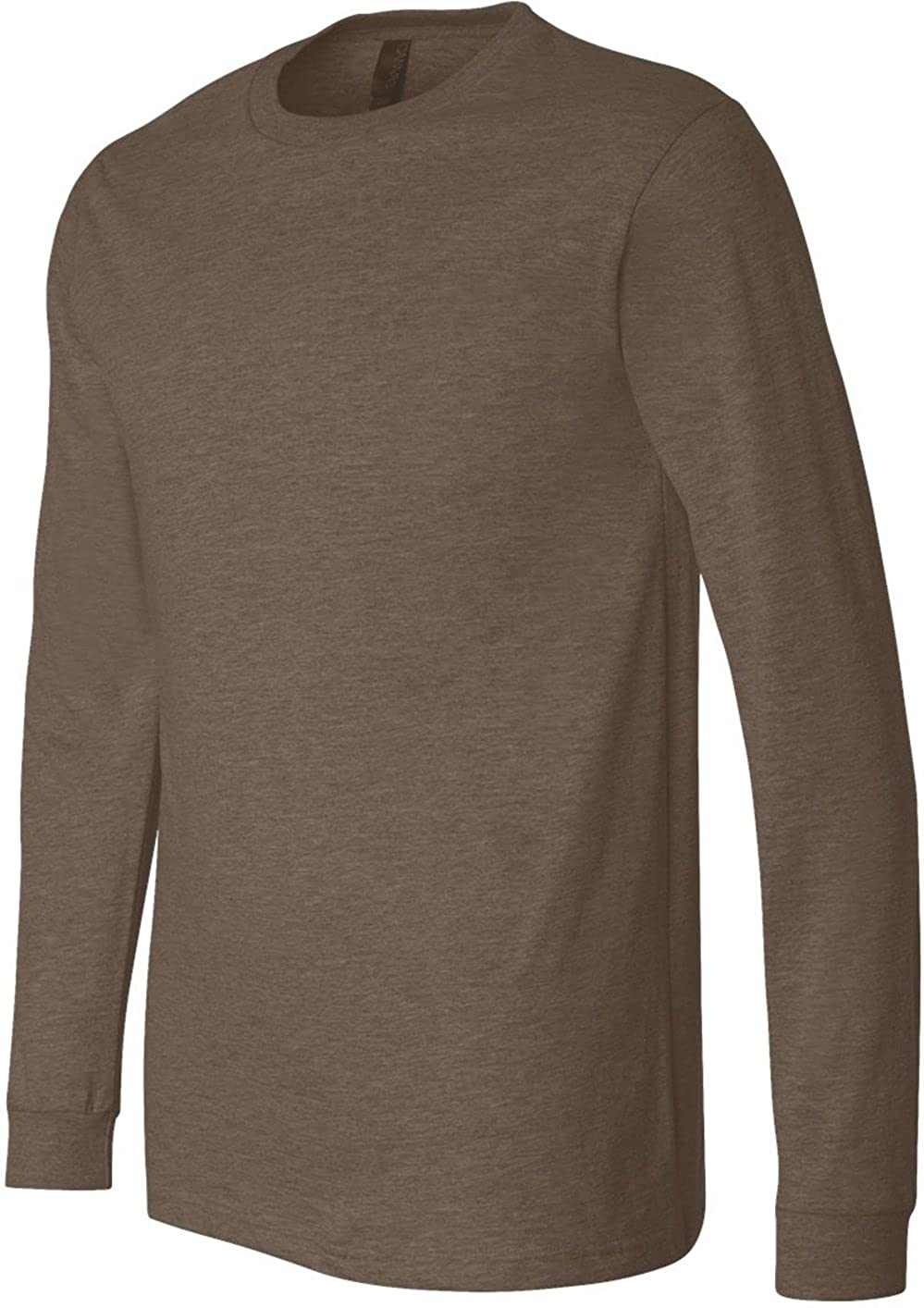 Bella + Canvasメンズジャージー長袖TシャツTシャツ(3501 ) B003MS462U XX-Large|ヘザーブラウン ヘザーブラウン XX-Large