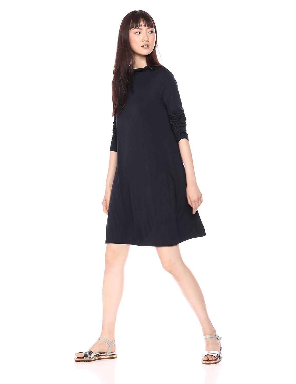 Daily Ritual Women's Jersey Mock-Neck Swing Dress DRSB3004