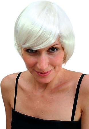 Wig Me Up Vk Event Fashion Perruque Sexy Carre Plongeant Blonde Platine Style Disco Go Go Ideal Pour Halloween Amazon Fr Jeux Et Jouets