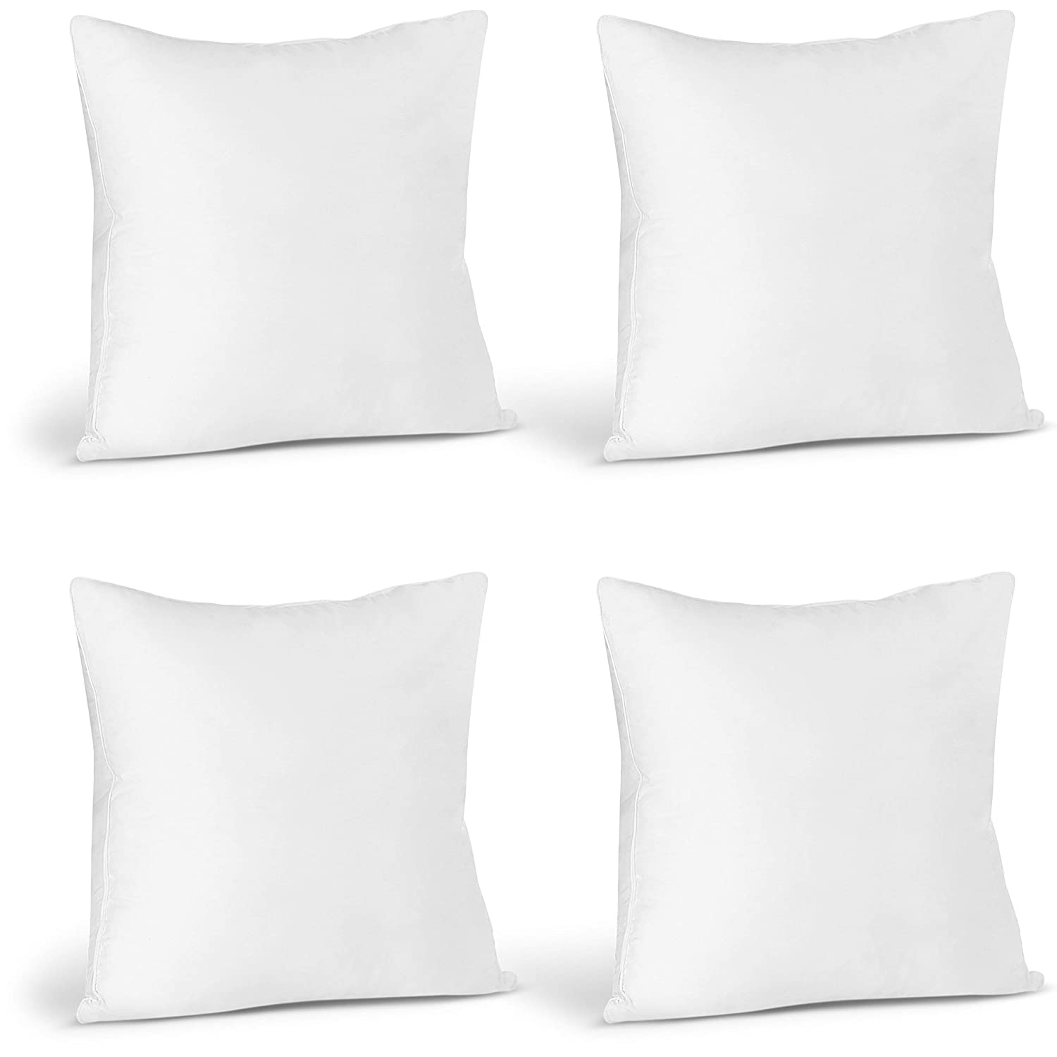 Fantastic Utopia Bedding Throw Pillows Insert Pack Of 4 White 18 X 18 Inches Bed And Couch Pillows Indoor Decorative Pillows Cjindustries Chair Design For Home Cjindustriesco