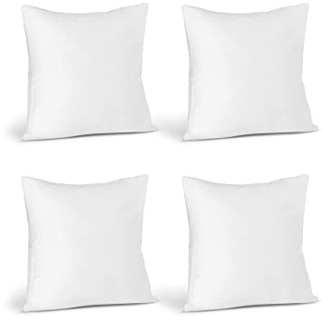 Utopia Bedding Throw Pillows Insert Pack Of 4 White 18 X 18 Inches Bed And Couch Pillows Indoor Decorative Pillows