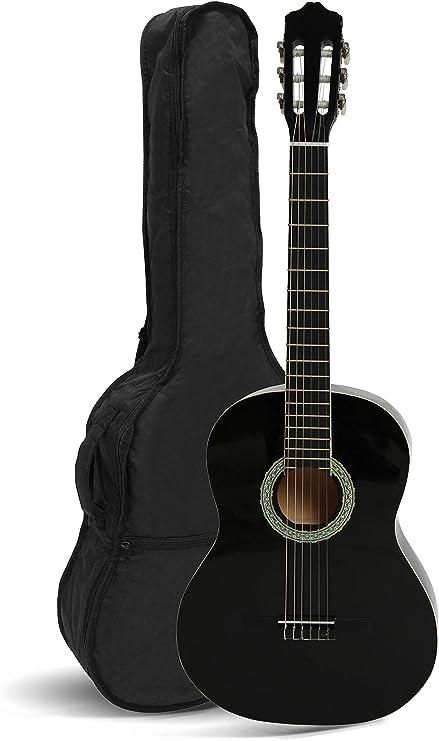 Navarra NV16 - Guitarra clásica 1/2 con Gig Bag, Negro: Amazon.es ...
