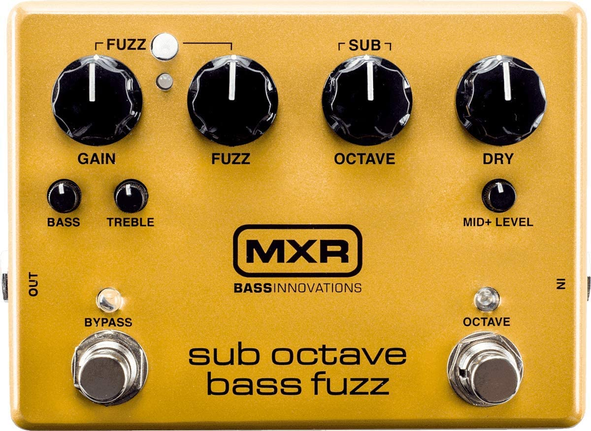 MXR M287 Sub Octave Bass Fuzz Guitar Effects Pedal