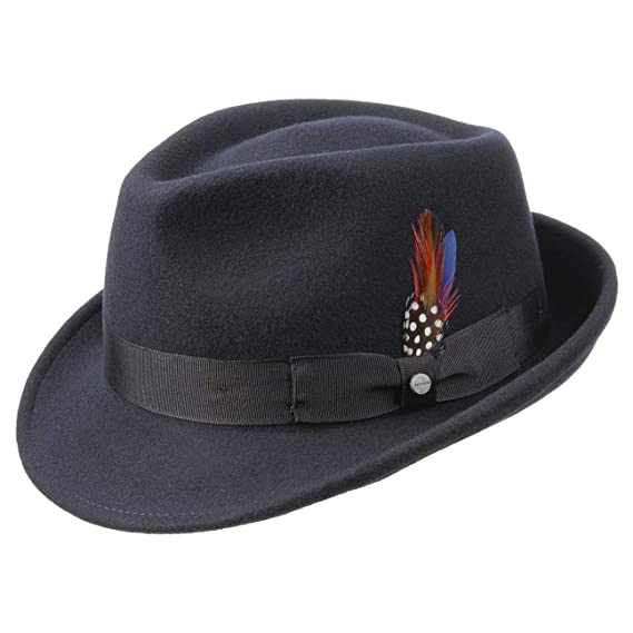 Stetson Elkader Trilby Felt Hat fedora men´s  Amazon.co.uk  Clothing 250a1afd4e8c