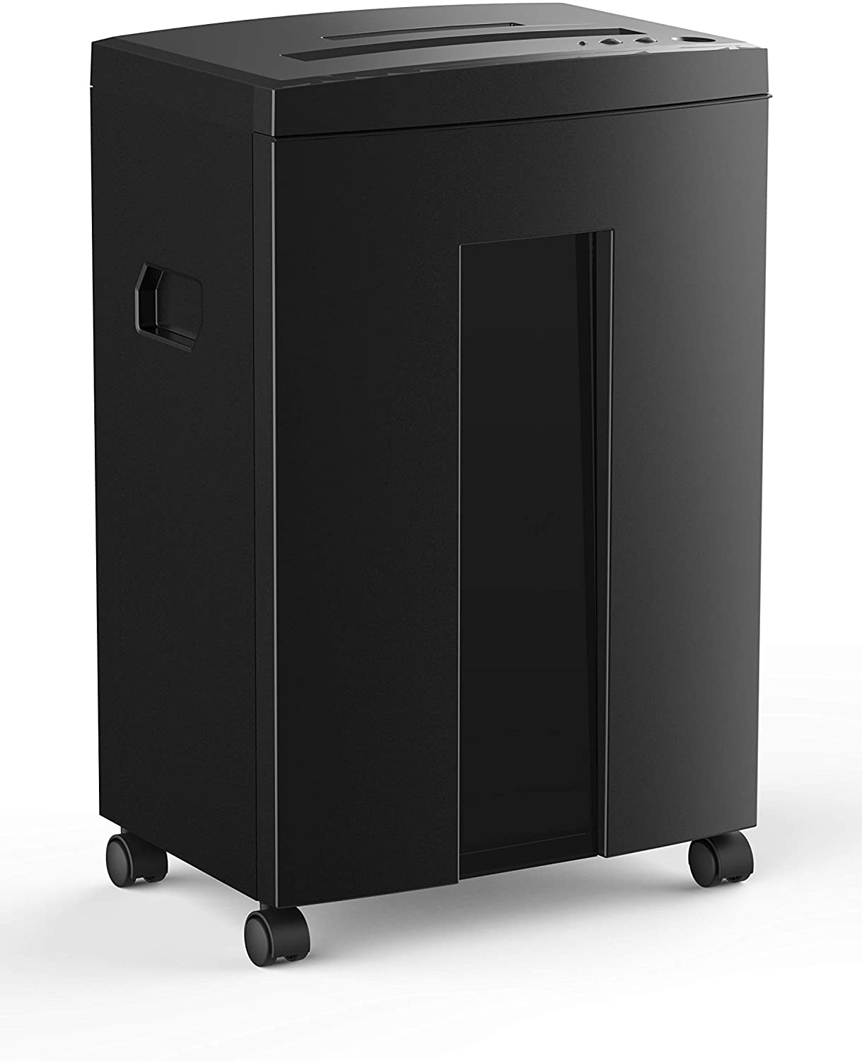 WOLVERINE 18-Sheet 60 Mins Running Time Cross Cut High Security Level P-4 Heavy Duty Paper/CD/Card Ultra Quiet Shredder for Home Office with 6 Gallons Pullout Waste Bin SD9113(Black ETL)