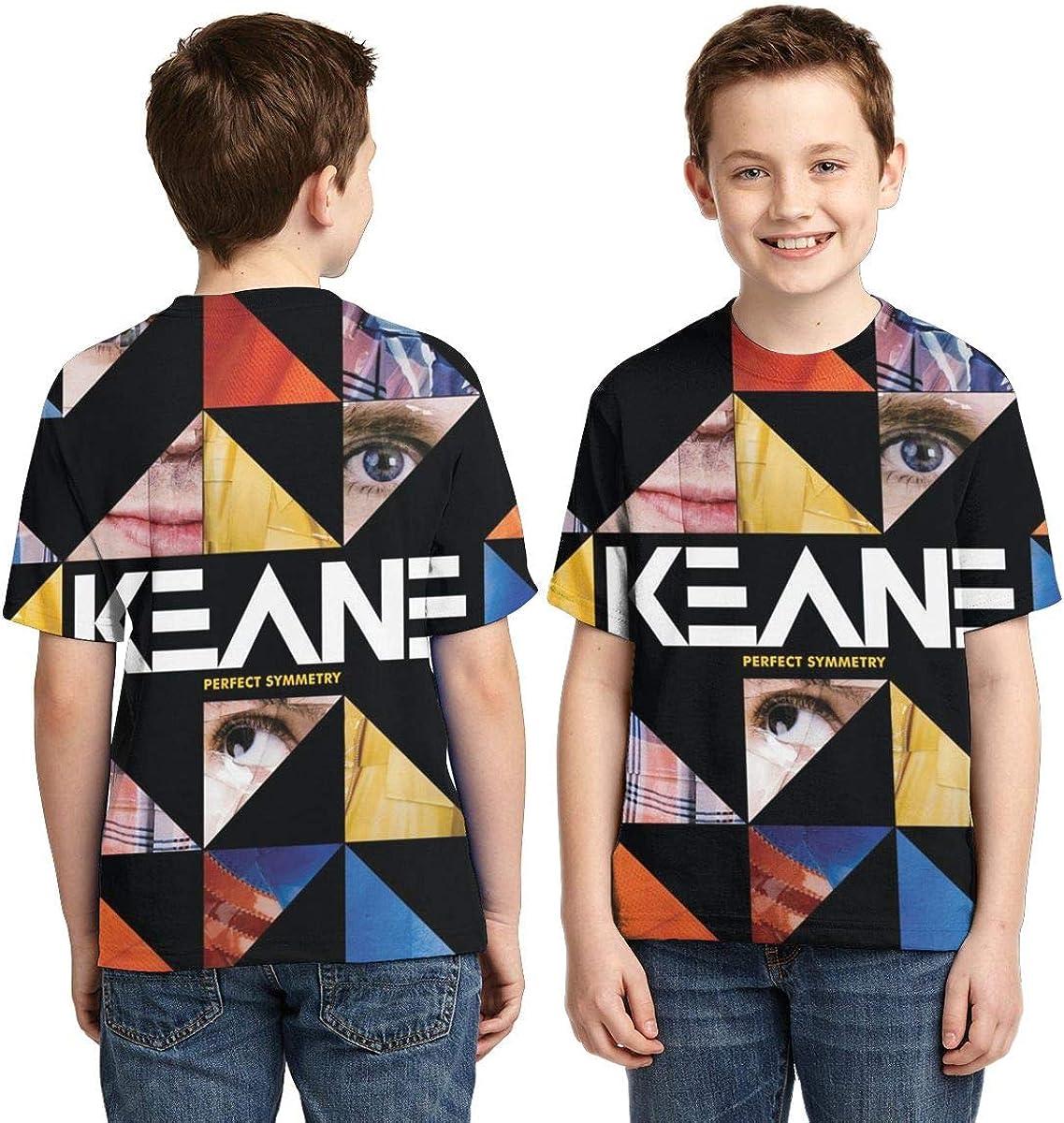 BowersJ Kids Keane Perfect Symmetry Design 3D Printed Short Sleeve Tees for Girls /& Boys Black