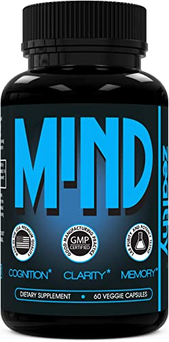 Zealthy Mind - Nootropic Brain Booster Supplement. Focus Vitamins Pills to Boost Concentration, Improve Memory and Mental Health. Nootropics Supplements with Ginkgo Biloba and B-Complex 60 Ct