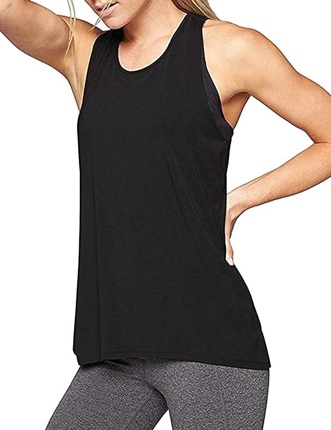 Aibrou Camiseta Mujer Deporte Sin Mangas para Yoga Fitness y Deportes   Amazon.es  Ropa y accesorios 0e7b560280b9