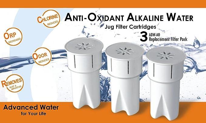 Repuesto antioxidante (antioxidante) ionizador purificador alcalinas cartuchos de filtro de agua potable jarra/jarra: Amazon.es: Hogar
