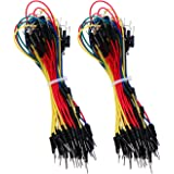 eBoot 130 Pieces Solderless Flexible Breadboard Jumper Wires Cables Line 1P to 1P Male to Male for Arduino Prototype Shield