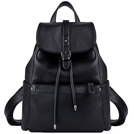 COOFIT Women s Fashion Travel Bag Leather College Backpack Shoulder Bag  Black  Amazon.ca  Luggage   Bags ad6581484db8c