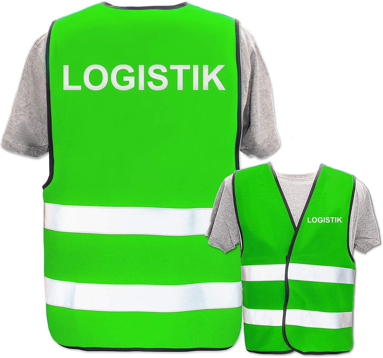 Reflektierend Reflex-Druck * Lager /& Logistik Warnweste Begriffe Lager:Fahrer Bedruckte Marken-Warnwesten mit Leuchtstreifen * Standard- o Farbe Gr/ö/ße:Gelb XL//XXL