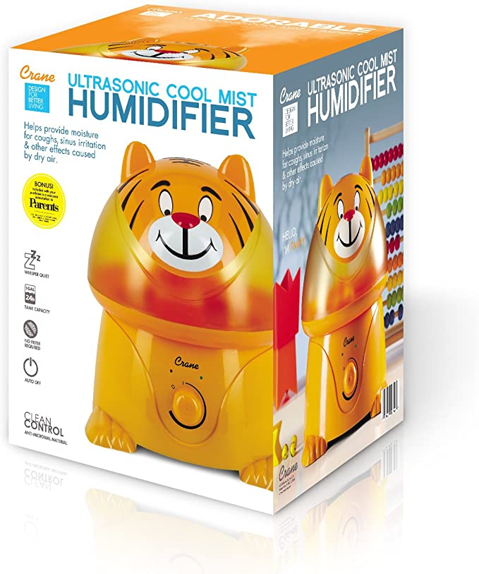 Ultrasonic Cool Mist Humidifier, Tiger
